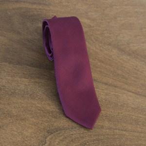 Cravatta tinta unita fondo bordeaux mod. 064