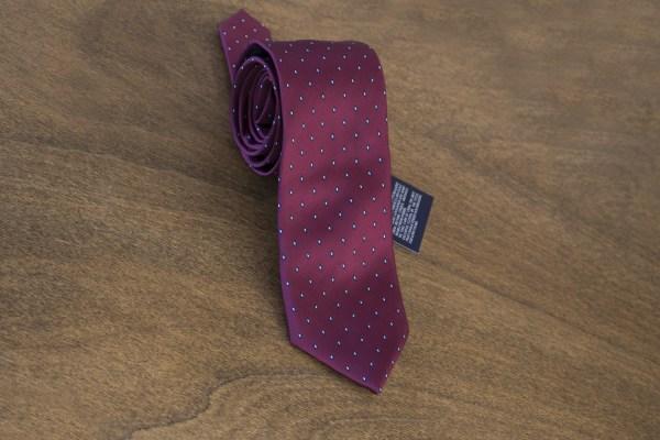 Cravatta fantasia fondo bordeaux mod. 077