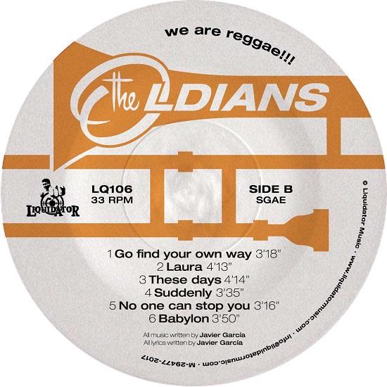 """Il lato B di """"We Are Reggae"""", album dei The Oldians"""
