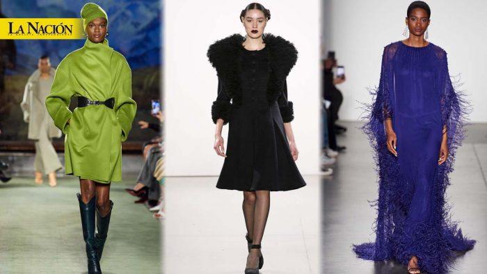El verde y las plumas de moda en Nueva York 1 16 febrero, 2020