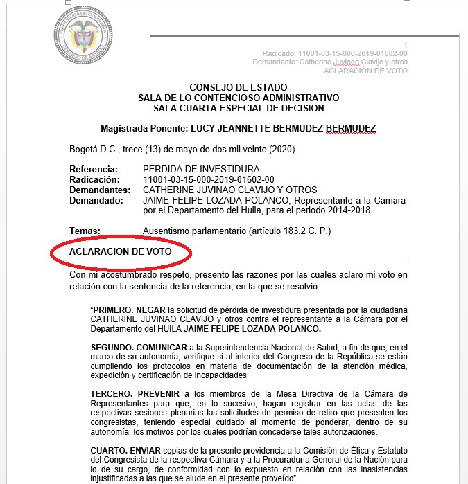 'Pipe' Lozada salvó su curul 2 27 mayo, 2020