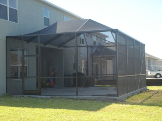 lanai patio pool screen installation