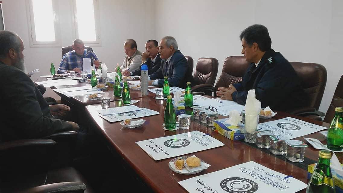 الأحوال المدنية بنغازي تعقد اجتماعا مع الأمن الداخلي وإدارة