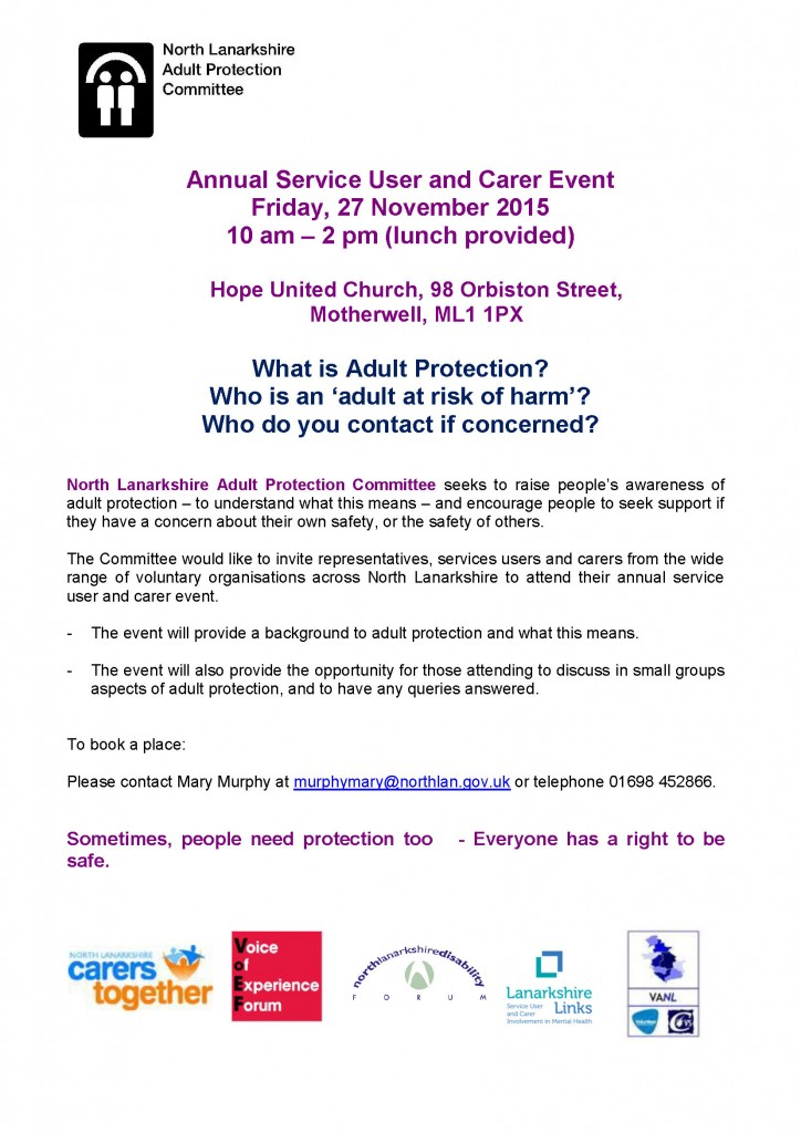 Annual Service User and Carer Event
