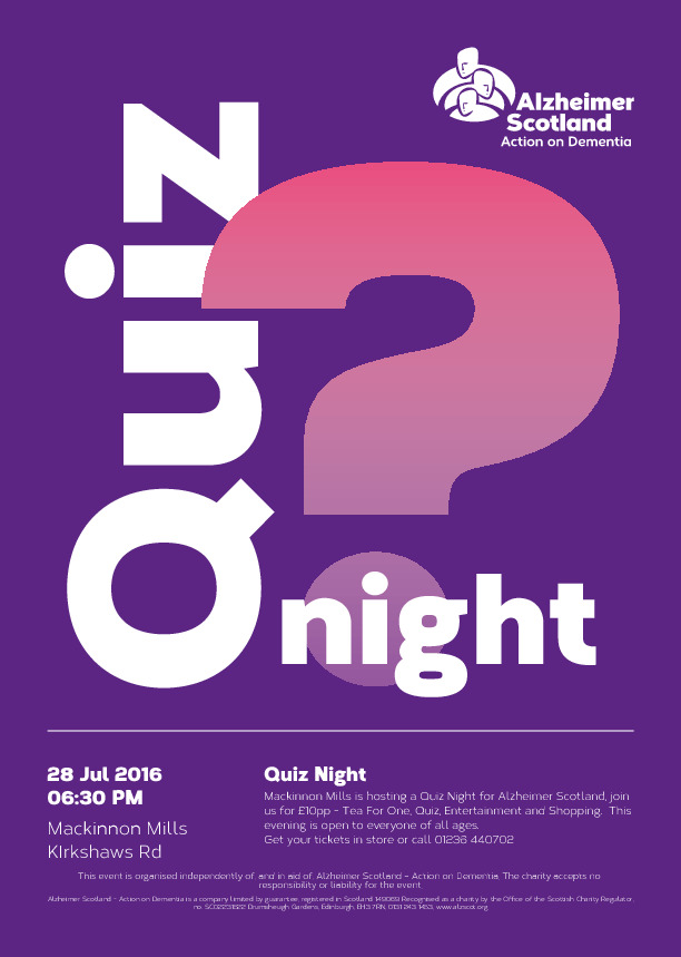 QuizNight Alzheimer Scotland