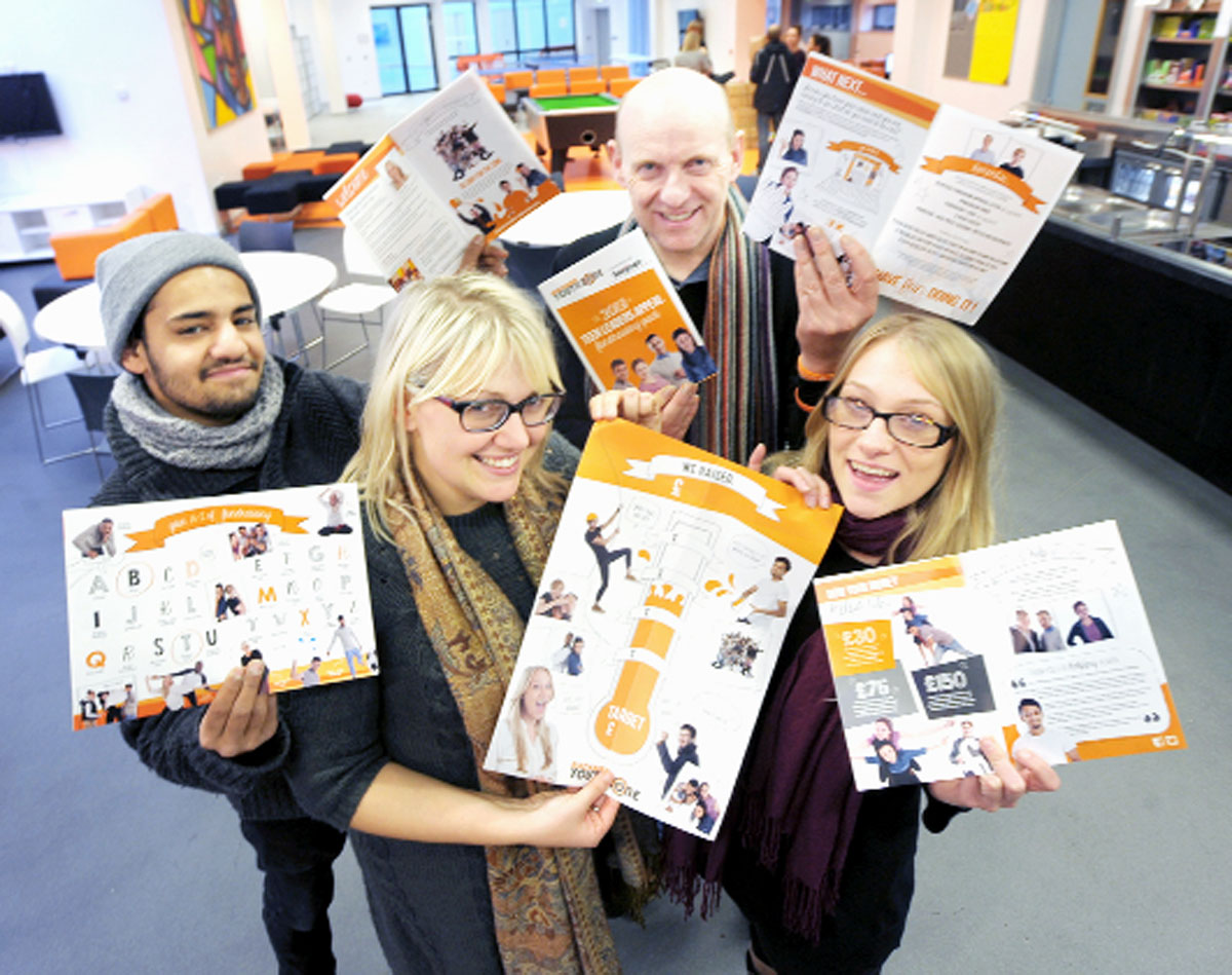 Lancashire Telegraph: Aeman Afzal, Zoe Graham, Peter Little and Laura Jones show off the fund-raising ideas packs