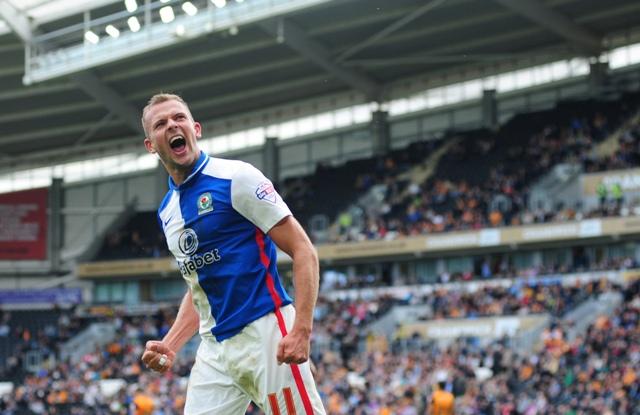 Jordan Rhodes, has scored eight goals in fourteen games this term - can Lambert keep him though?