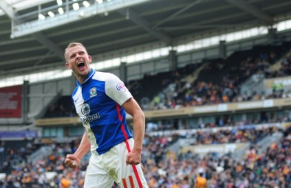 Jordan Rhodes, has scored eight goals in fourteen games this term - can Lambert keep him though?