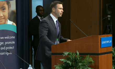 DHS chief Kevin McAleenan shouted off stage by pro-immigration protesters