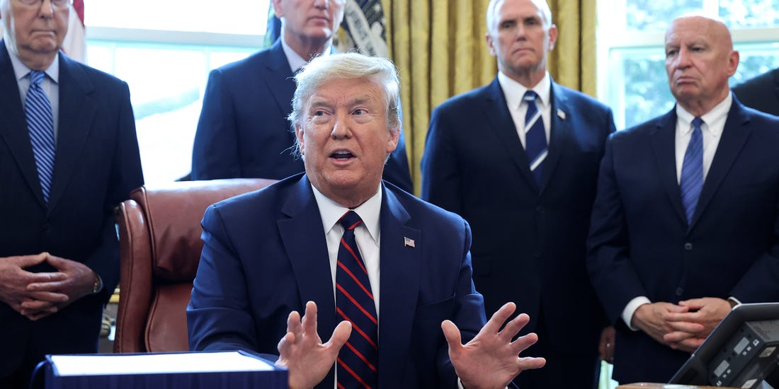 Trump says he won't let Congress know what companies COVID-19 corporate bailouts go to