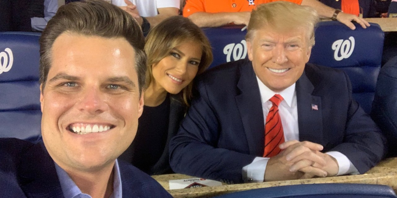 Sycophantic Matt Gaetz accidentally refers to Donald Trump as 'President God' in bizarre tweet
