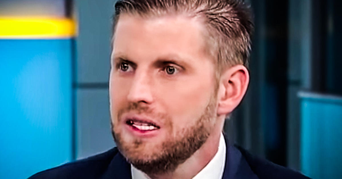 Eric Trump humiliated trying to tie Epstein pedo-recruiter Ghislaine Maxwell to people who aren't his father