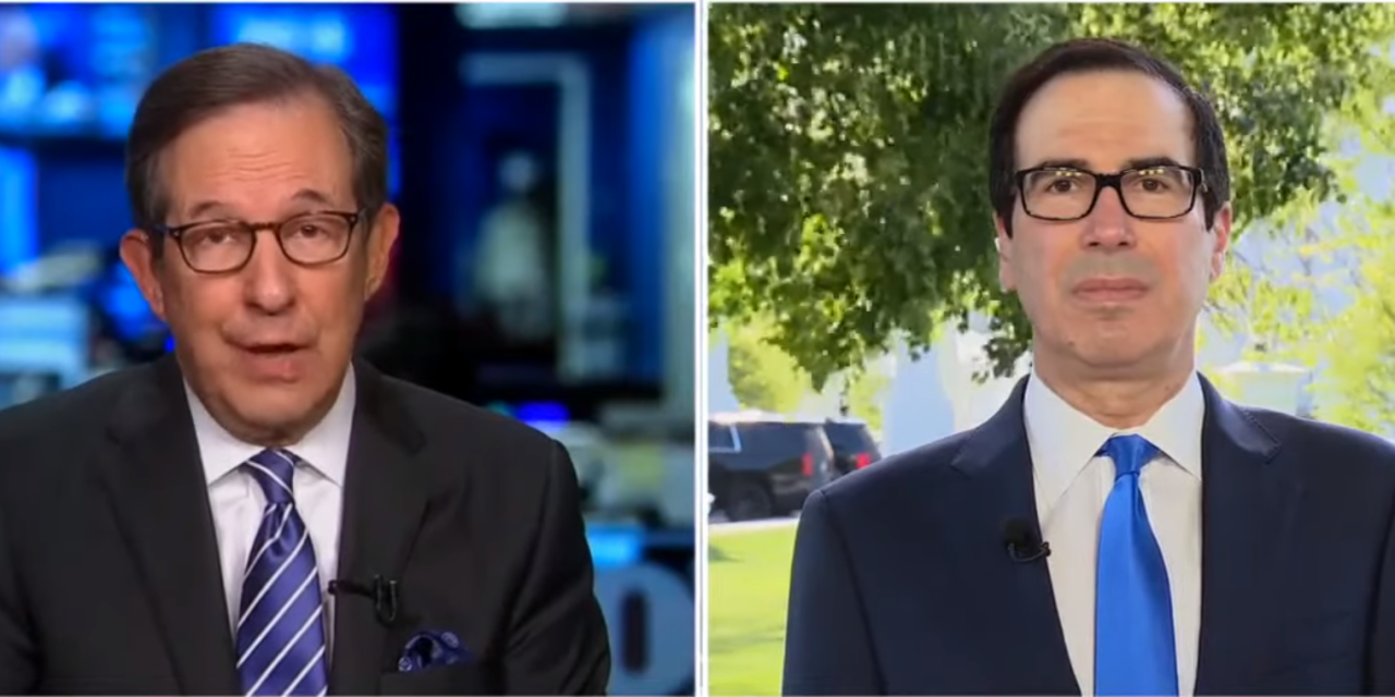 Chris Wallace calls Mnuchin out for downplaying horrible economic and unemployment numbers