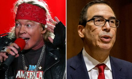 Steve Mnuchin winds up humiliated when he gets into a Twitter feud with rocker Axl Rose