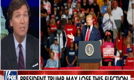 According to Tucker Carlson, Trump is behind in the polls because he's 'exhausted'
