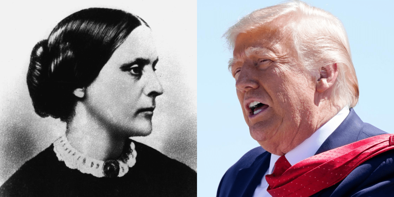 Susan B. Anthony Museum says the suffragist would have refused Trump's pardon