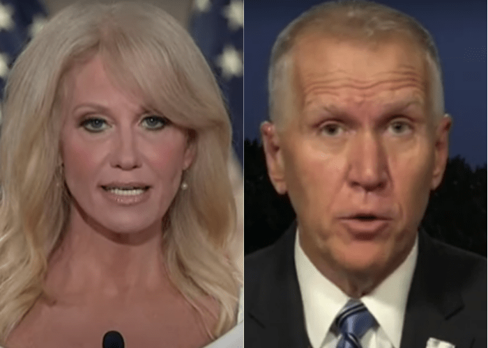 Kellyanne Conway and GOP Senator Thom Tillis test positive for coronavirus