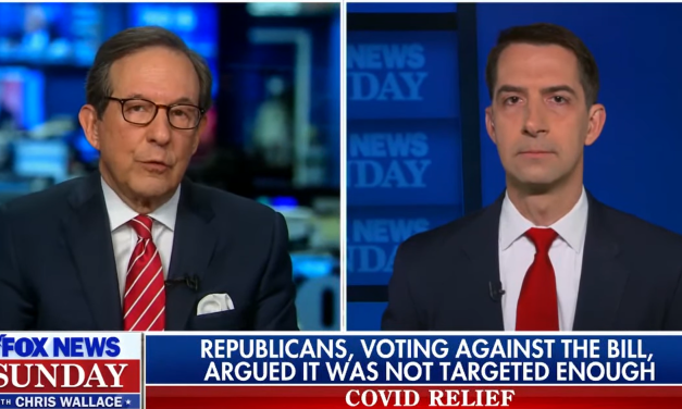 Chris Wallace busts Tom Cotton for his blatant hypocrisy on opposing Biden's COVID relief checks
