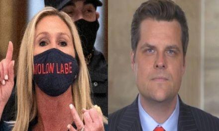 Marjorie Taylor Greene gets a social media smackdown for her pathetic defense of Matt Gaetz
