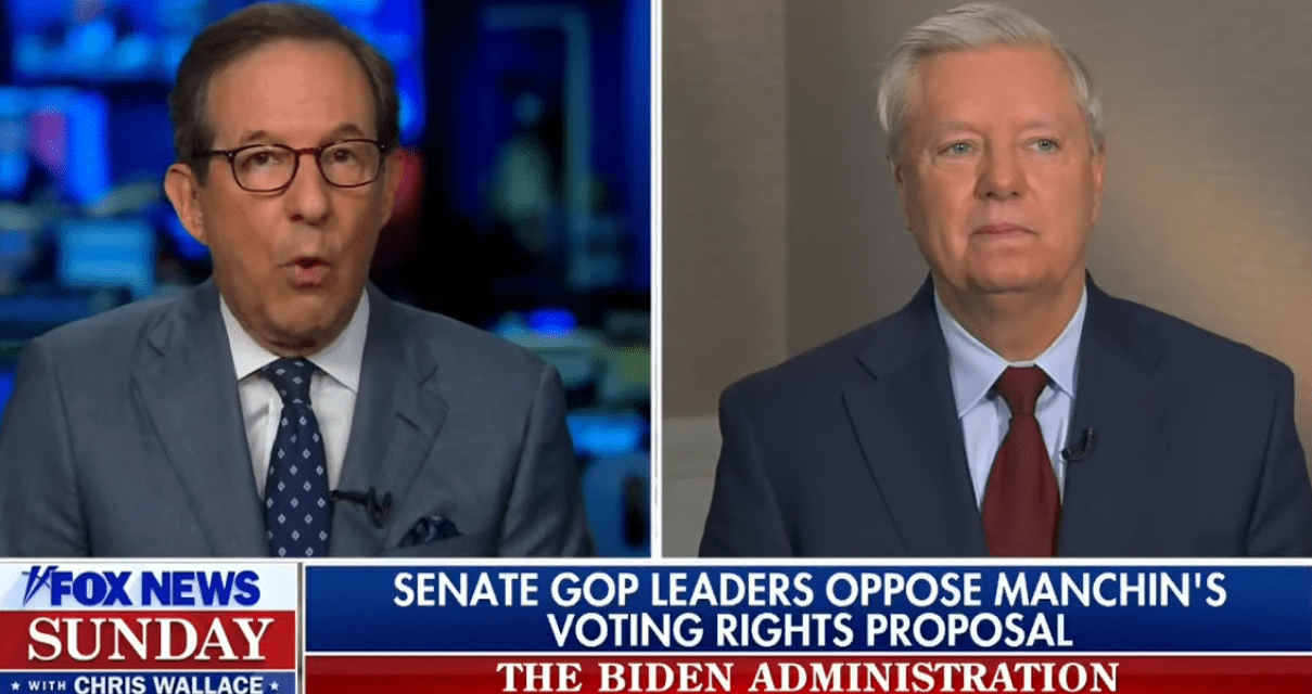 Chris Wallace calls out Lindsey Graham for lying about voting rights legislation