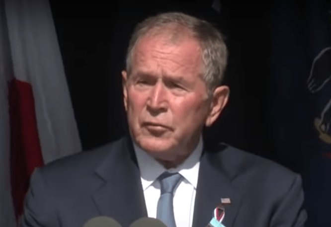 George W. Bush compares domestic terrorists with 9/11 terrorists in shot at Trump supporters