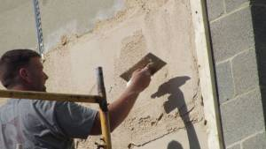 applying lime plaster for stucco