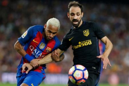Neymar e Juanfran - Barcelona x Atlético de Madrid