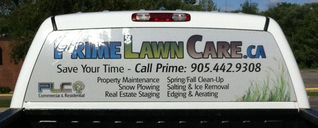 Prime Lawn Care Truck Decal