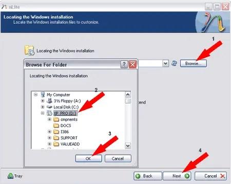 Locating the Windows installation