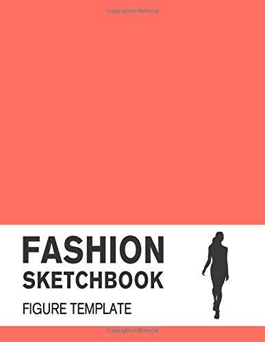 2019 Fashion Sketchbook Figure Template Covered with Pantone Color of the Year 2019 - 16-1546 Living Coral