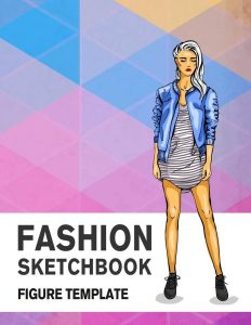 430 Large Female Figure Template Fashion Sketchbook