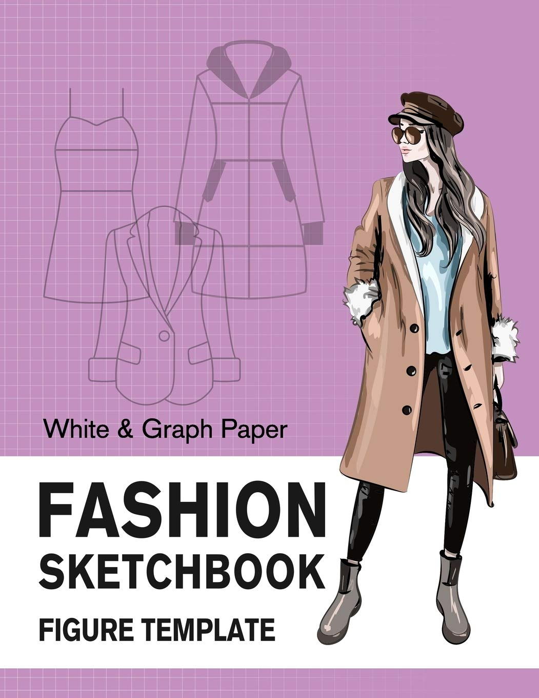 Fashion Sketchbook Figure Template White & Graph Paper: Easily Sketching and Drawing Your Fashion Styles with Large Female Croquis and Record Your Ideas with the Blank Graph Paper