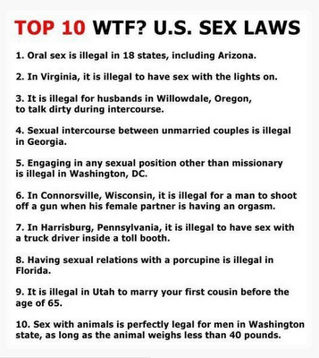 Strange sex laws in united states