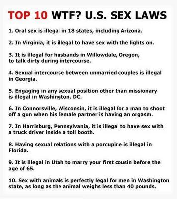 Strange sex lawas in united states
