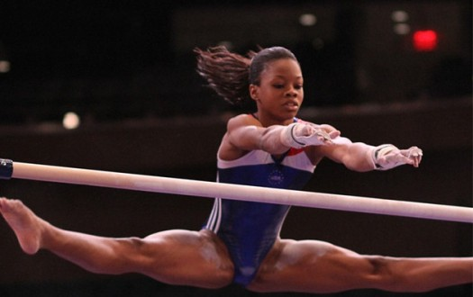 Gabby Douglas In Flight