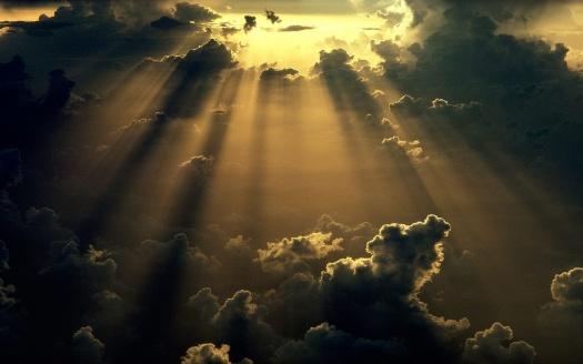 Sun Through Storm Clouds