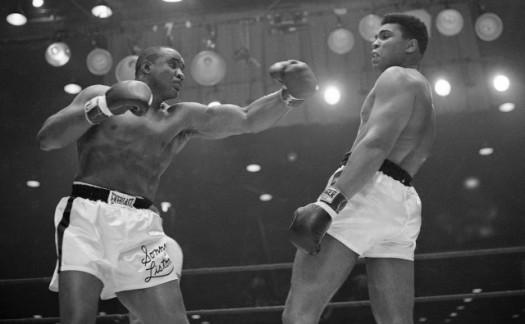 Muhammad Ali avoids Sonny Liston