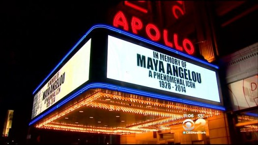 Maya Angelou Apollo Marquee