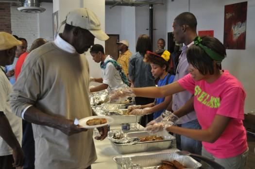 Homeless Feeding - Jesus