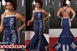 Joy Villa's 'Make America Great Again' Trump Grammy Dress: Good Business? – The LanceScurv Show