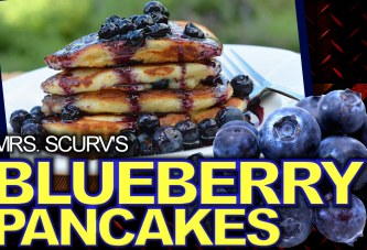 Blueberry Vegan Pancakes!