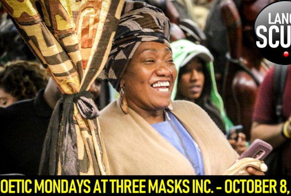 POETIC MONDAYS AT THREE MASKS INC. – OCTOBER 8, 2018