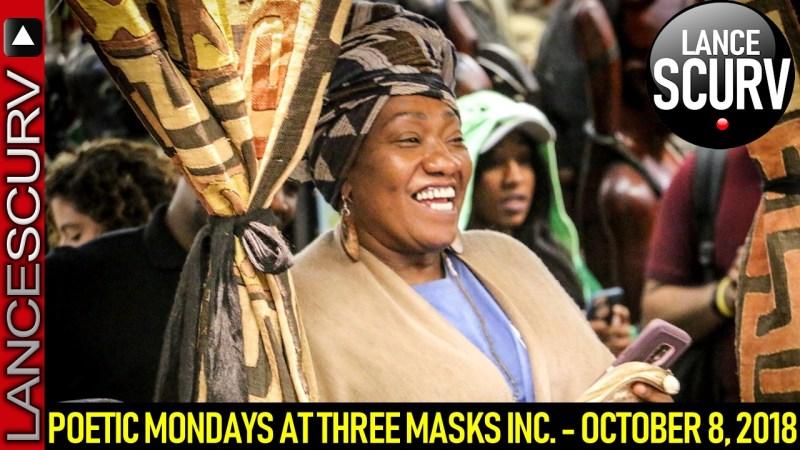 POETIC MONDAYS AT THREE MASKS INC. - OCTOBER 8, 2018
