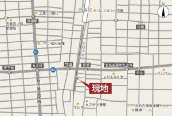 北名古屋・九之坪の家 案内図