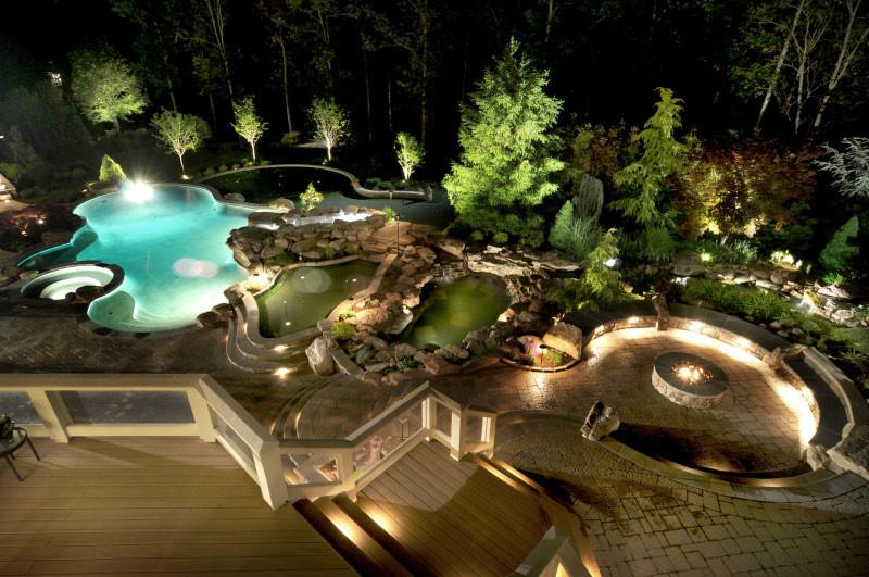 Ultimate Luxury Pool & Backyard in Potomac, MD - Land ... on Luxury Backyard Design id=49670