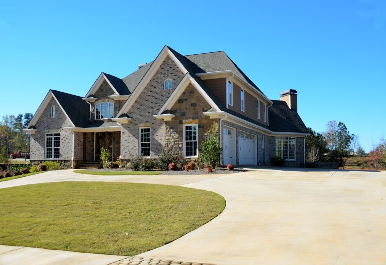 home with nice landscaping