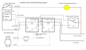 Simplified FJ80 Difflock Wiring Diagram | Land Cruiser Club