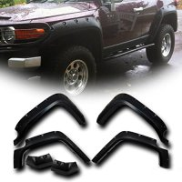Wotefusi Car New Front Rear Fender Flares Pocket Rivet Style For Toyota Land Cruiser FJ 2007-2015 2008 2009 2010 2011 2012 2013 2014