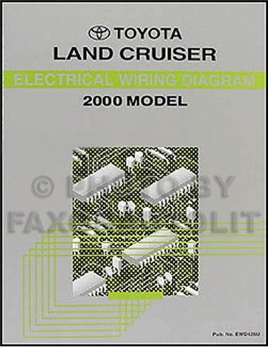 2000 toyota land cruiser wiring diagram manual original