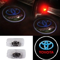 Moonet 2x Door Light Car Vehicle Ghost LED Courtesy Welcome Logo Light Lamp Shadow Projector For Toyota Crown Land Cruiser Prado Reiz Camry Highlander Corolla Prius Previa Sienna Sequoia Tundra